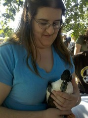 Stevie and a Baby Duck: Because Ducks are Cute